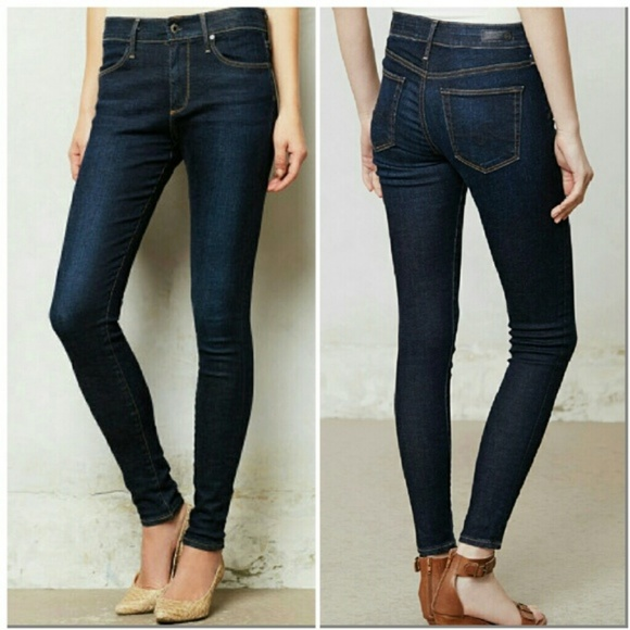f49dbf35f304 Ag Adriano Goldschmied Denim - AG The Farrah High Rise Ankle Skinny Jeans  30R